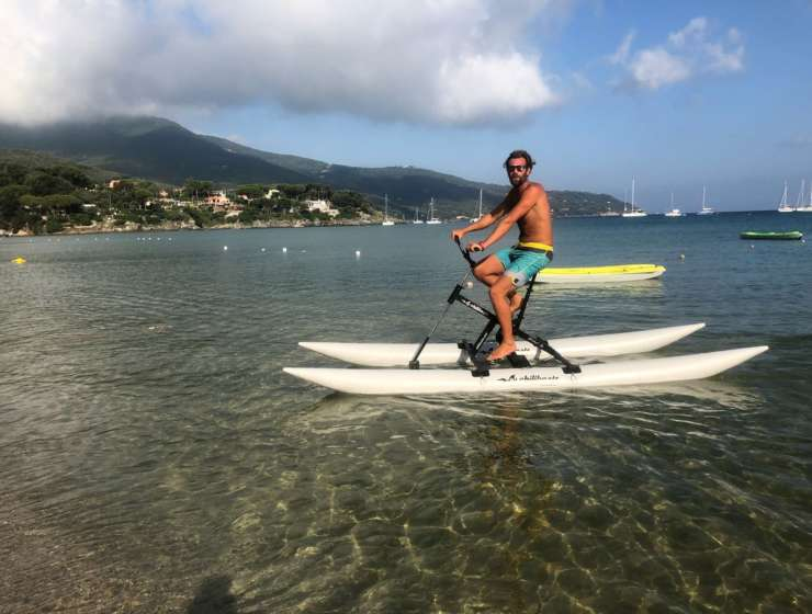 Water Bike, la novità di Elba Water Sports a Procchio