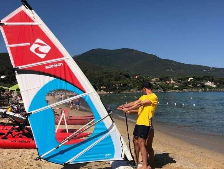 Corsi di Windsurf all'Isola D'Elba con EWS