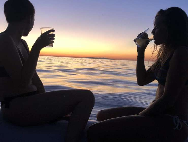 Tramonto in mare con Elba Water Sports a Procchio